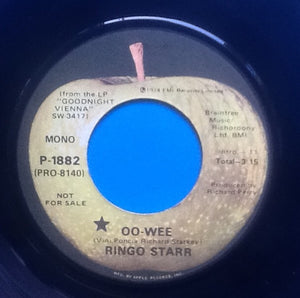 "Ringo Starr Oo-Wee 2 Track 7"" NMint Apple Promo USA 1974"