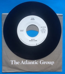 "Ringo Starr Wings 2 Track 7"" NMint White Label Promo USA 1977"