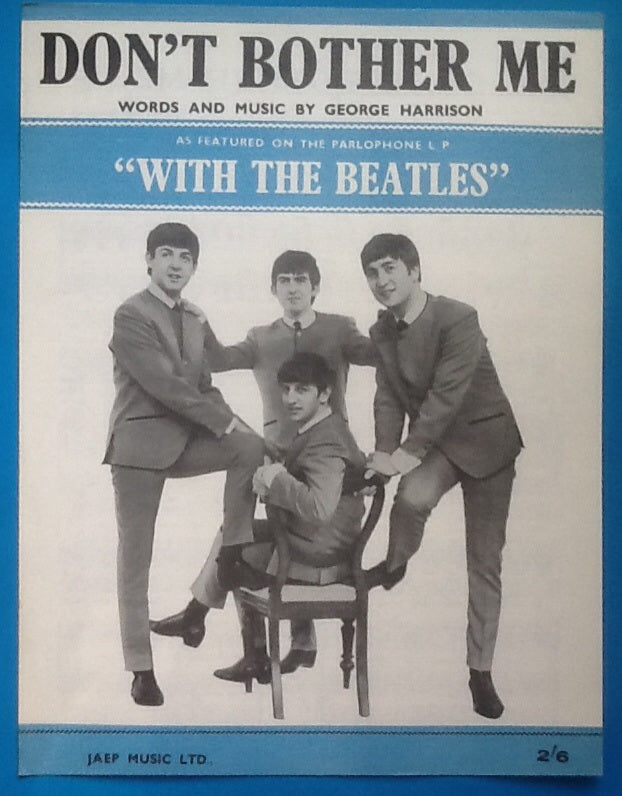 Beatles Don't Bother Me Sheet Music 1963