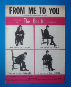 Beatles From Me To You UK Sheet Music 1963