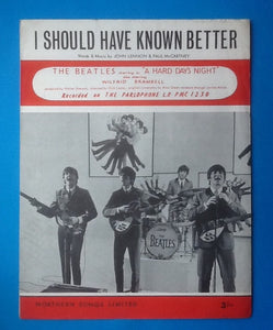 Beatles I Should Have Known Better UK Sheet Music 1964