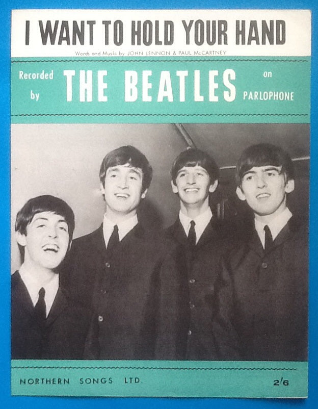 Beatles I Want to Hold Your Hand Sheet Music 1963