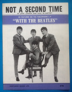 Beatles Not A Second Time Sheet  Music 1963