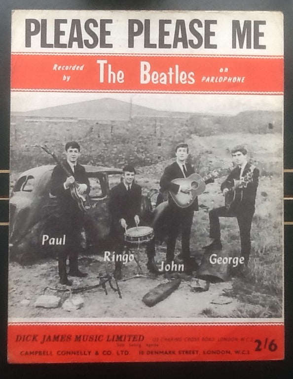 Beatles Please Please Me UK Sheet Music 1962
