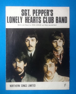 Beatles Sgt. Pepper's Lonely Hearts Club Band UK Sheet Music 1967
