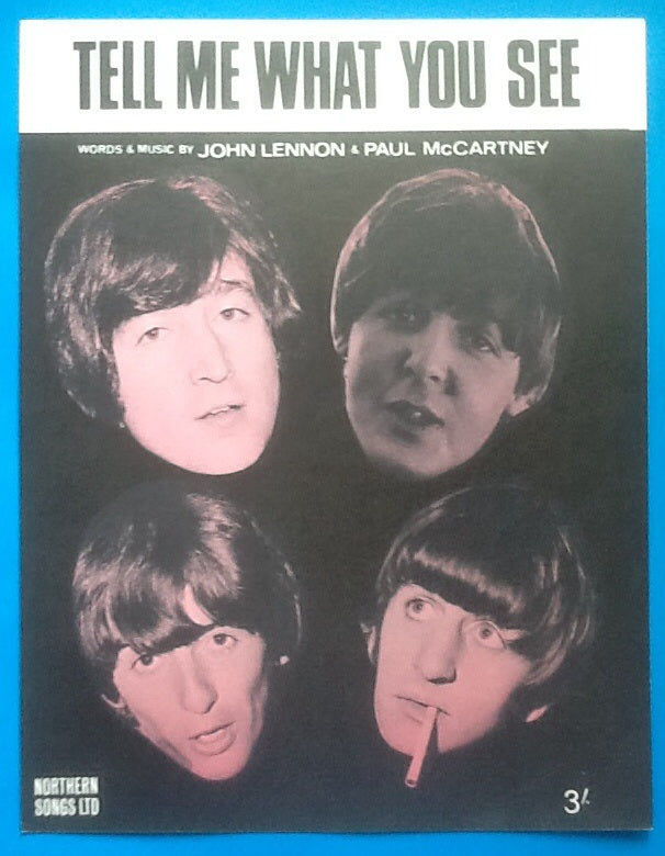 Beatles Tell Me What You See Sheet Music 1965