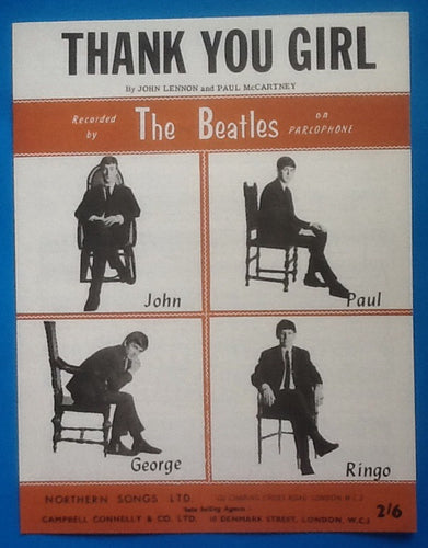 Beatles Thank You Girl Sheet Music 1963