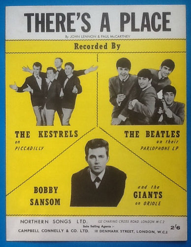 Beatles There's a Place Sheet Music 1963