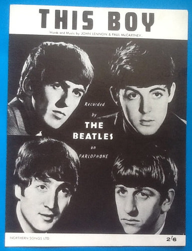 Beatles This Boy Sheet Music 1963