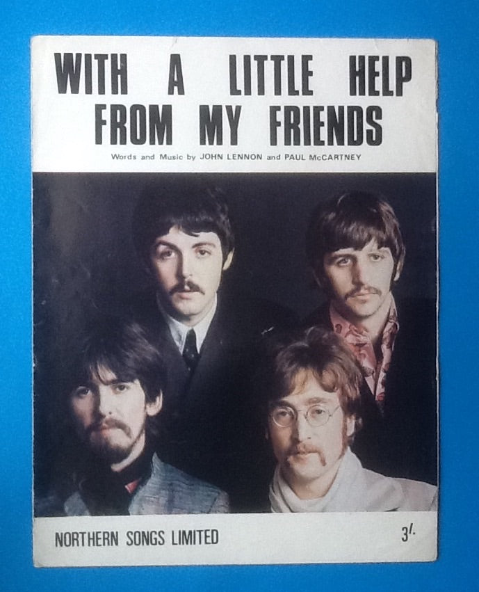 Beatles With A Little Help From My Friends UK Sheet Music 1967