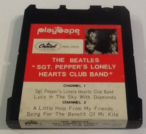 Beatles Sgt. Pepper's Lonely Hearts Club Band Original 2 Track 4 Song Cartridge Playtape Capitol 1967