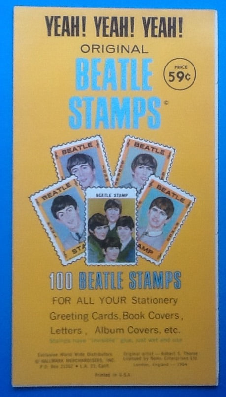 Beatles Stamps Booklet Hallmark