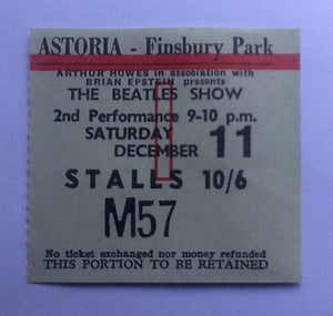 Beatles Original Concert Ticket London 1965