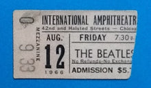 Load image into Gallery viewer, Beatles Original Used Concert Ticket Chicago 1966