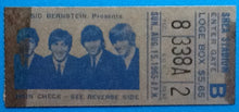 Load image into Gallery viewer, Beatles Original Used Concert Ticket Shea Stadiun New York 1965