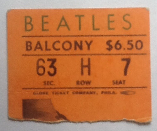 Beatles Concert Ticket Cleveland 1964