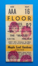 Load image into Gallery viewer, Beatles Original Used Concert Ticket Toronto 1966