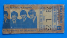Load image into Gallery viewer, Beatles Used Concert Ticket New York 1966