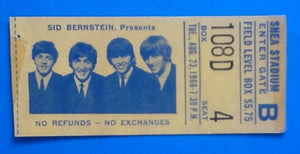 Beatles Used Concert Ticket New York 1966