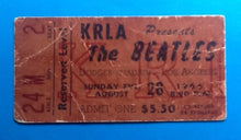 Load image into Gallery viewer, Beatles Original Used Concert Ticket Los Angeles 1966