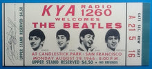 Load image into Gallery viewer, Beatles Original Unused Concert Ticket San Francisco 1966