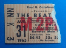 Load image into Gallery viewer, Beatles Original Used Concert Ticket San Francisco 1965