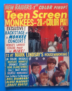 Teen Screen Magazine Monkees Beatles Sept 1967