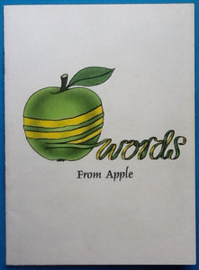 Beatles Words From Apple Artists and Releases Catalogue 1970
