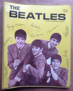 Beatles Yellow  3 Ring Binder USA 1960s