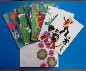 Beatles Complete Yellow Submarine 15 Greeting Cards Set 1968