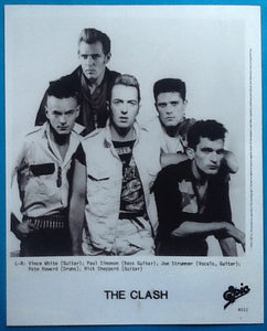 Clash Original Promo Photo Cut the Crap Album Epic 1985