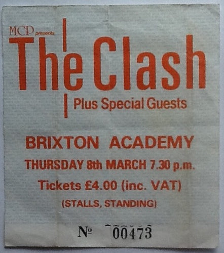 Clash Original Used Concert Ticket Brixton Academy London 1984