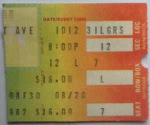 Who Clash Original Used Concert Ticket Shea Stadium New York 1982