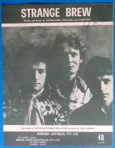 Cream Sheet Music Strange Brew Polydor 1967