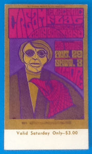Cream Eric Clapton Ticket San Francisco 1967