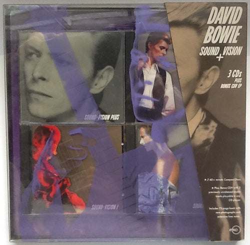 David Bowie Sound And Vision Rare Unplayed NMint 3 CD + CDV Box Set RYKO 1989