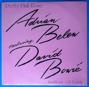 "David Bowie Adrian Belew Pretty Pink Rose 3 Track NMint 12"" Vinyl Picture Sleeve UK 1990"