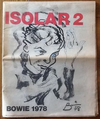 David Bowie Original Concert Newspaper Programme Isolar 2 Tour 1978
