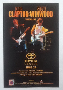 Eric Clapton Steve Winwood Handbill Flyer Houston 2009