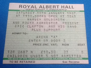 Eric Clapton Ticket London 1987