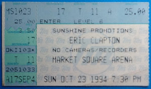 Eric Clapton Original Used Concert Ticket New York 1994