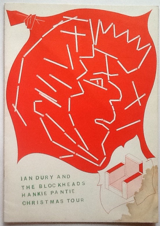 Ian Dury & the Blockheads Original Concert Programme 1978