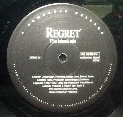 New Order Regret 4 Track 2x 12