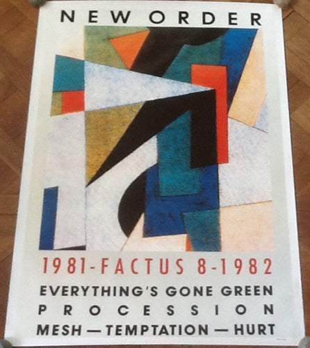 Joy Division New Order 1981 - 1982 Original Promo Poster Factory 1982