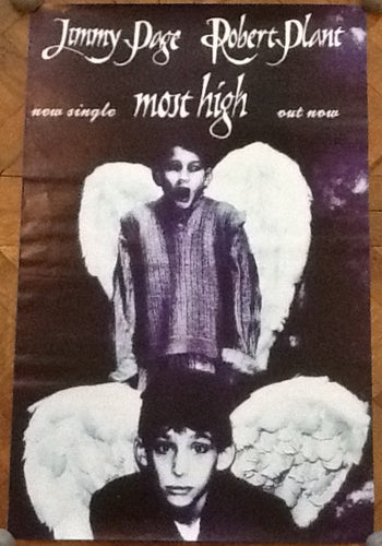 Led Zeppelin Jimmy Page Robert Plant Most High Original Promo Poster UK