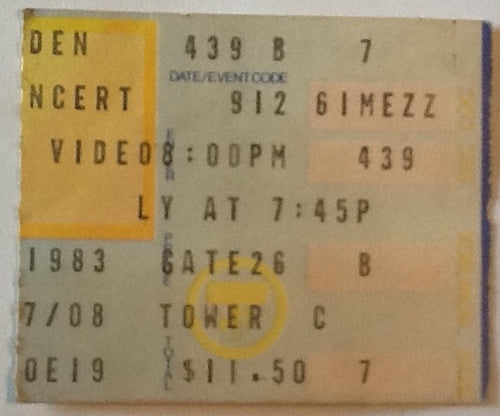 Led Zeppelin Robert Plant Original Concert Ticket Madison Square Garden New York 1993
