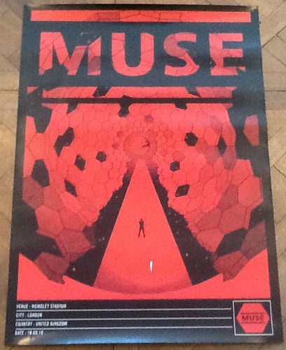 Muse Original Concert Tour Gig Poster Wembley Stadium London 10 Sept 2010