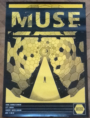 Muse Original Concert Tour Gig Poster Wembley Stadium London 11 Sept 2010