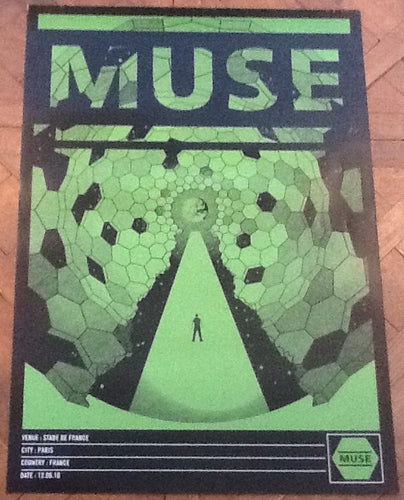 Muse Original Concert Tour Gig Poster Stade De France Paris 12 June 2010