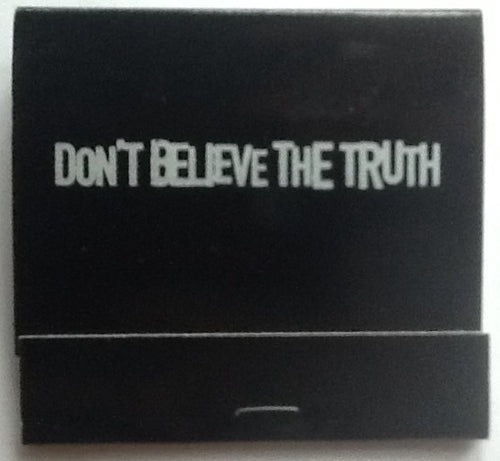 Oasis Don't Believe the Truth Promo Unused Book of Matches 2005